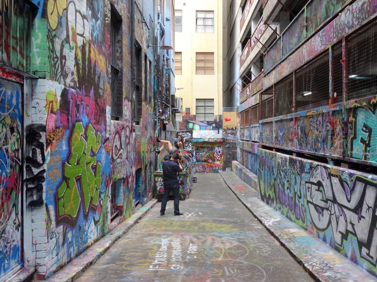 Photoshoot in Hosier Lane
