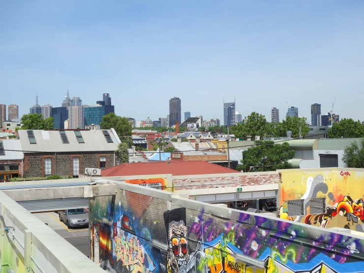 View from a car park in Fitzroy, overlooking the Central Business District
